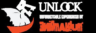 "UNLOCK! Fun outdoor ""escape"" adventure! Logo"